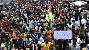 Grand rassemblement anti-gouvernemental à Lomé le 6 septembre 2017. Des centaines de milliers de partisans de l'opposition ont protesté à travers leTogo pour réclamer des réformes. (PIUS UTOMI EKPEI / AFP)