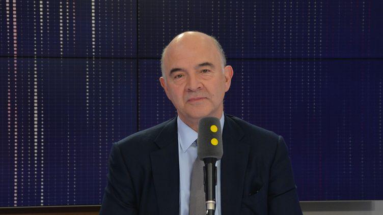 Pierre Moscovici,commissaire européen aux Affaires économiques et financières. (RADIO FRANCE / JEAN-CHRISTOPHE BOURDILLAT)