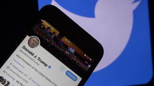 Twitter a suspendu temporairement le comptedu président américain Donald Trump, le 6 janvier 2021. (ERCIN ERTURK / ANADOLU AGENCY / AFP)