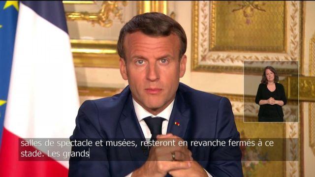 Emmanuel Macron explique que les restaurants et cafés resteront fermés après le 11 mai
