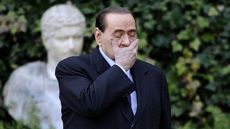 Le président du Conseil italien, Silvio Berlusconi, le 18 janvier 2011 (AFP - Filippo MONTEFORTE)