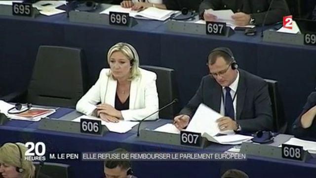 Marine Le Pen : elle refuse de rembourser le Parlement européen