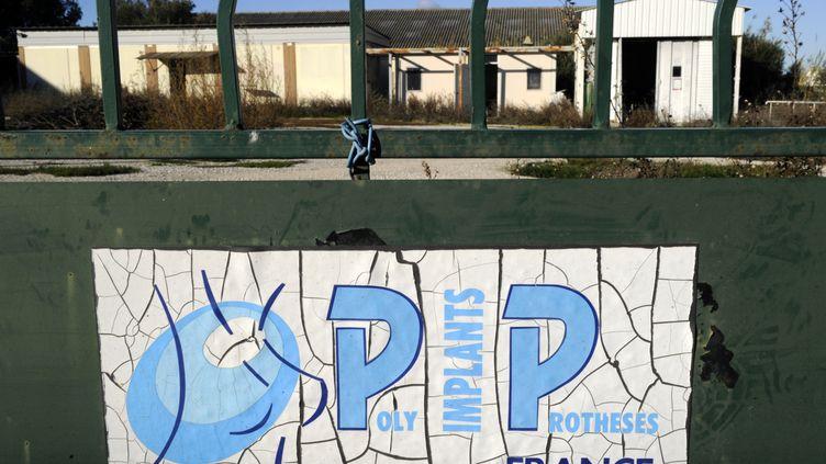 Le portail de l'ancienne entreprise PIP, photographié le 30 décembre 2011, à La-Seyne-sur-Mer (Var). (BORIS HORVAT / AFP)