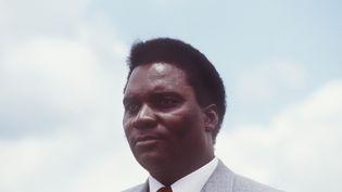 L'ancien président rwandais, Juvenal Habyarimana, le 7 octobre 1982. (PIERRE GUILLAUD / AFP)