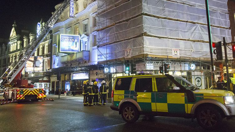 Le plafond de l'Apollo théâtre à Londres s'est effondré  (TOLGA AKMEN / ANADOLU AGENCY)