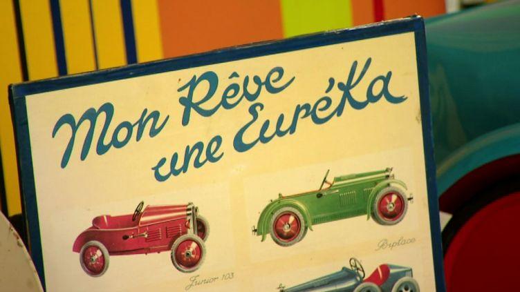 Publicité pour les voitures à pédales Euréka (J. Bègue / France 3)