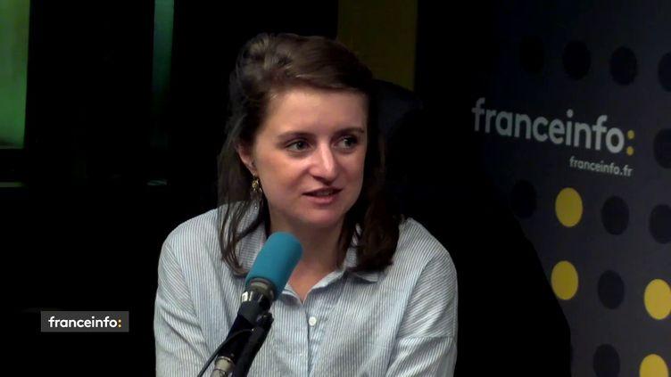 Lilâ Le Bas, la présidente de l'Unef, dans le studio de franceinfo. (FRANCEINFO / RADIOFRANCE)