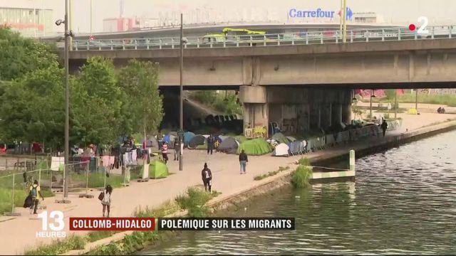 Migrants : polémique entre Gérard Collomb et Anne Hidalgo