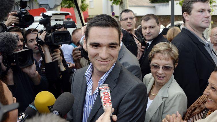 Etienne Bousquet-Cassagne, candidat du FN à la législative partielle de Villeneuve-sur-Lot (Lot-et-Garonne), le 23 juin 2013. (JEAN-PIERRE MULLER / AFP)
