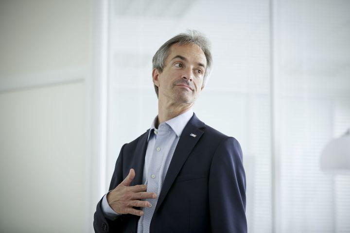 Laurent Zameczkowski, candidat de La République en marche aux élections législatives, le 15 juin 2017 à Neuilly-sur-Seine (Hauts-de-Seine). (MAXPPP)