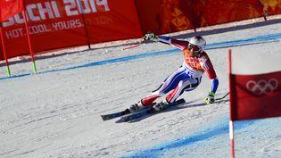Adrien Théaux, lors d'un entraînement en Russie, le 8 février 2014. (OLIVIER MORIN / AFP)