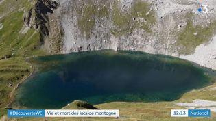 En 40 ans, 35 nouveaux lacs qui sont apparusen Vanoise (Savoie). (FRANCE 3)