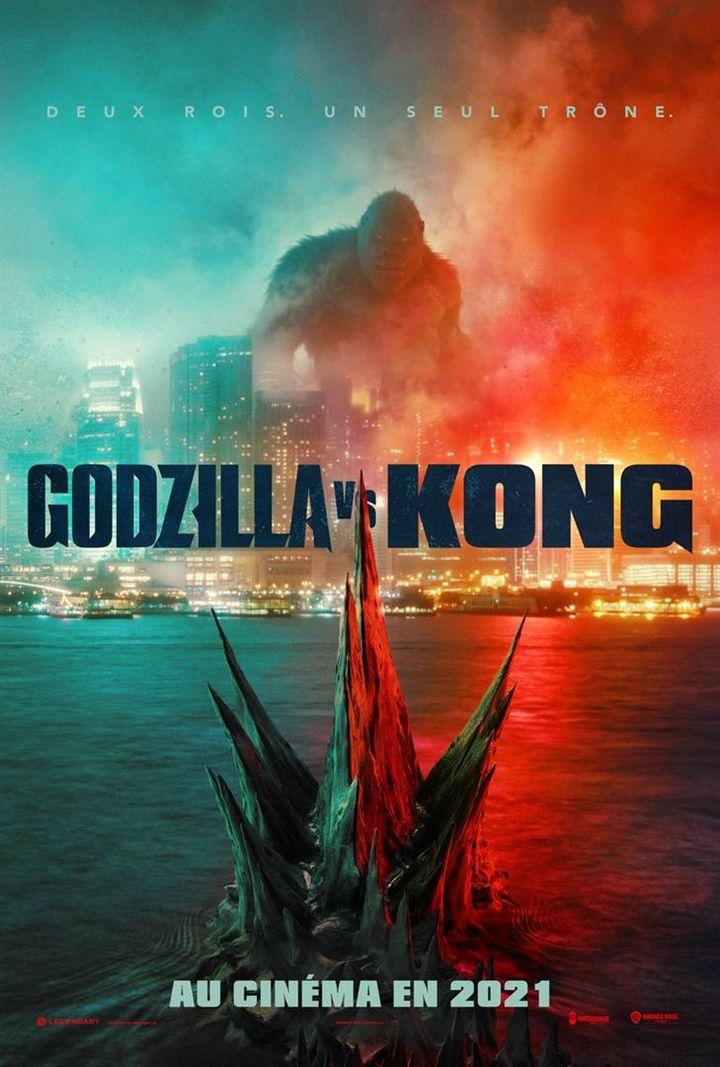 """L'affiche de """"Godzilla VS King Kong"""" de Adam Wingard (2021). (WARNER BROS. FRANCE)"""