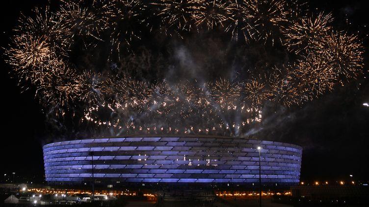 Le stade olympique de Bakou lors de la cérémonie d'ouverture le 12 juin 2015. (TOFIK BABAYEV / AFP)