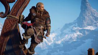 Le jeu vidéo Assassin's Creed Valhalla présenté par son éditeur Ubisoft dans une vidéo YouTube de lancement le 10 novembre 2020. (FRANCEINFO / RADIOFRANCE)