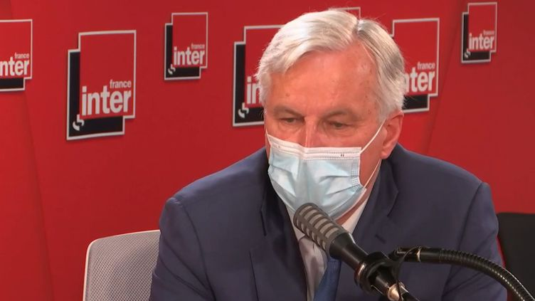 Michel Barnier, le 3 mai 2021, sur France Inter. (FRANCE INTER / RADIO FRANCE)