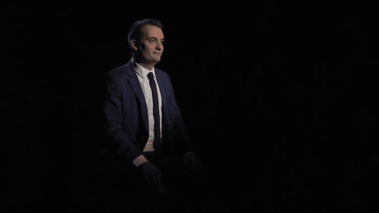 Le vice-président du Front national, Florian Philippot, répondant aux questions des internautes. (FRANCEINFO)
