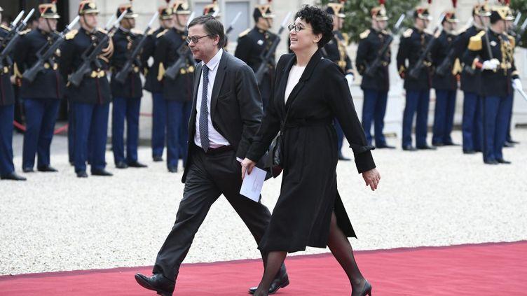 Marie-Claire Martel arrive au palais de l'Elysée, le 14 mai 2017, à Paris. (STEPHANE DE SAKUTIN / AFP)