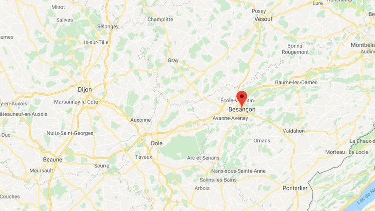 Les faits ont eu lieu, dans la soirée du mercredi 10 juillet 2019, à Besançon (Doubs). (CAPTURE ECRAN GOOGLE MAPS)