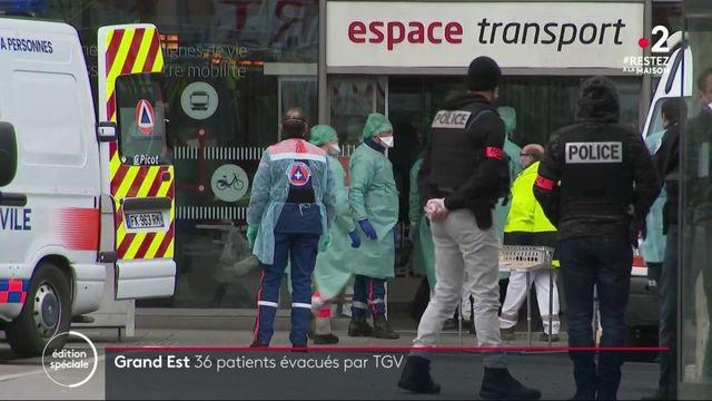 Coronavirus: 36 malades transférés depuis le Grand Est