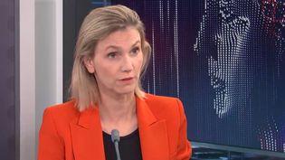 Agnès Pannier-Runacher, ministre déléguée chargée de l'Industrie, était l'invitée de franceinfo le 4 octobre 2021. (FRANCEINFO / RADIOFRANCE)