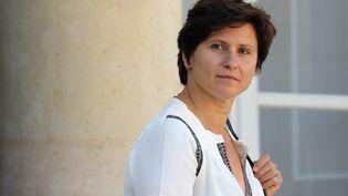 La ministre des Sports, Roxana Maracineanu, à la sortie de l'Elysée à Paris, le 12 septembre 2018. (LUDOVIC MARIN / AFP)