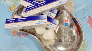 Un vaccin contre la grippe, à l'Institut Pasteur de Lille (Nord), le 11 octobre 2013. (DENIS CHARLET / AFP)