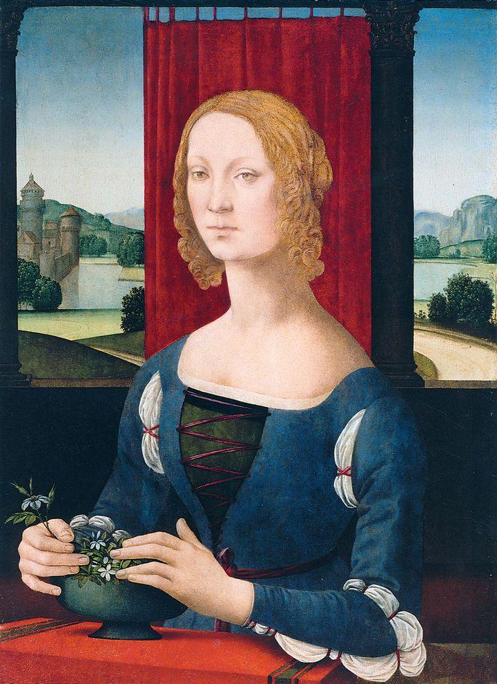 Lorenzo di Credi, Portrait d'une jeune femme ou La Dame aux jasmins, 1485-1490  (Musei San Domenico, Pinacoteca Civica, Forlì)