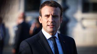 Le président français Emmanuel Macron lors d'un sommet international à Trieste, en Italie, le 12 juillet 2017. (ALES BENO / AFP)