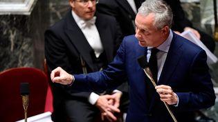 Le ministre de l'Economie, Bruno Le Maire, le 5 juillet 2017 à l'Assemblée nationale. (MARTIN BUREAU / AFP)