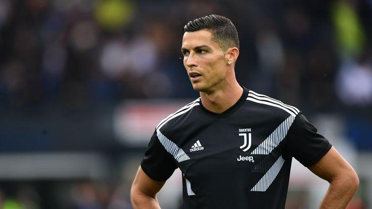 Cristiano Ronaldo lors d'un match de la Juventis à Udine (Italie), le 6 otobre 2018. (MIGUEL MEDINA / AFP)