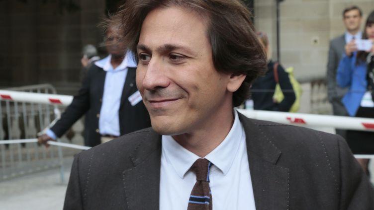 Jérôme Guedj, aujourd'hui Président du Conseil général de l'Essonne devant le siège du PS en septembre2012, (JACQUES DEMARTHON / AFP)