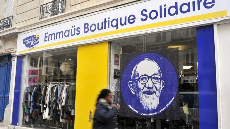 Une boutique Emmaüs fermée en raison du confinement, à Paris le 19 avril 2020. (HARRY FLEX / ONLY FRANCE / AFP)