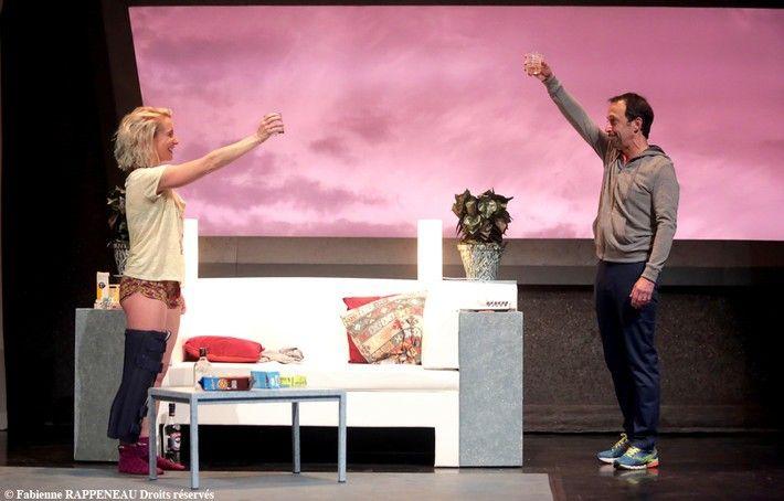 """Andréa Bescond et Eric Metayer dans """"La Leçon de danse"""" de Mark St-Germain  (Fabienne Rappenaux Droits réservés)"""