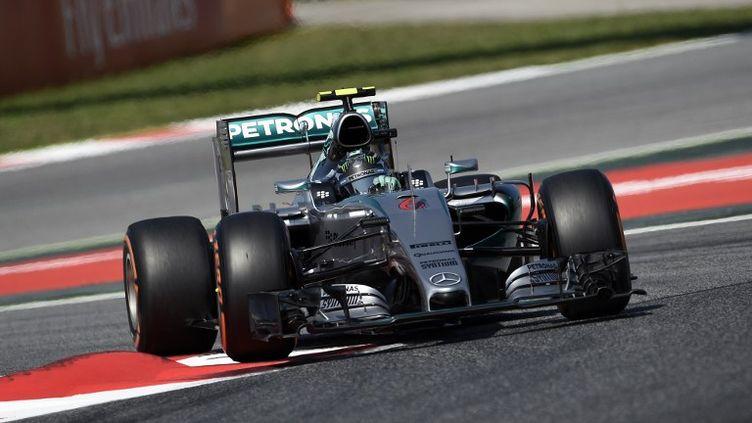 Le pilote allemand de Mercedes, Nico Rosberg. (LLUIS GENE / AFP)