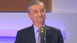 Jacques Gounon, le PDG de Getlink, était l'invité de franceinfo mardi 29 janvier. (FRANCEINFO / RADIOFRANCE)
