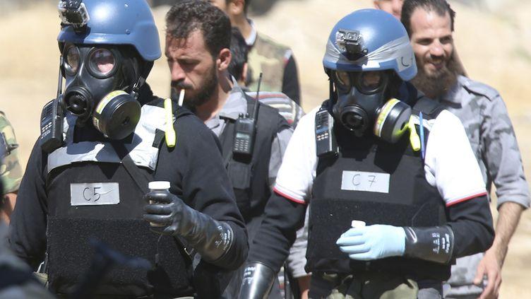 Des experts des Nations unies viennent inspecter des sites potentiellement touchés par des attaques à l'arme chimique, le 28 août 2013 en Syrie. ( REUTERS)