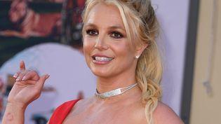 La chanteuse américaine Britney Spears à une première de film à Hollywood (Californie, Etats-Unis), le 22 juillet 2019. (VALERIE MACON / AFP)