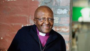 L'archevêque Desmond Tutu photographié le 27 avril 2019. (RODGER BOSCH / AFP)