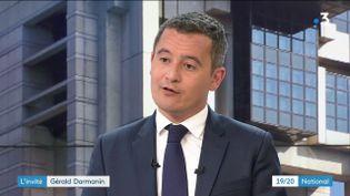 Le ministre de l'Action et des comptes publics Gérald Darmanin, sur le plateau de France 3, le 2 janvier 2019. (FRANCE 3)