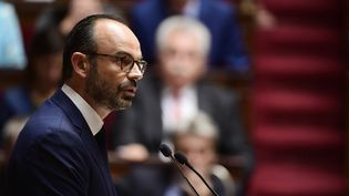 Le Premier ministre Edouard Philippe s'exprime devant l'Assemblée nationale, le 4 juillet 2017. (MARTIN BUREAU / AFP)
