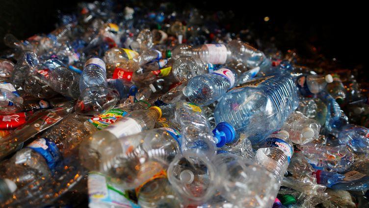 Dans une usine de recyclage de plastique à Rocquancourt, dans le Calvados, en 2016. (CHARLY TRIBALLEAU / AFP)