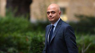 Le ministre de la Santé Sajid David à Londres (Royaume-Uni) le 10 septembre 2021. (DANIEL LEAL-OLIVAS / AFP)