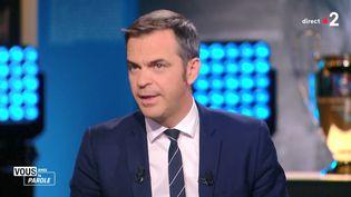 """Le ministre de la Santé, Olivier Véran, invité de l'émission politique """"Vous avez la parole"""", le 15 octobre 2020 à Marseille (Bouches-du-Rhône). (FRANCE 2)"""