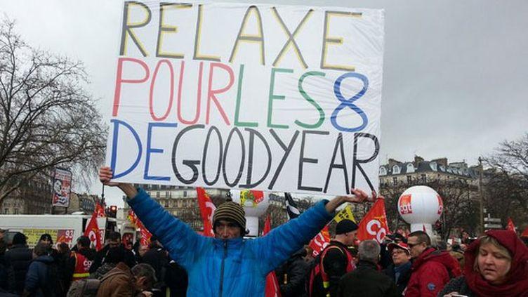 (Rassemblement à l'appel de la CGT place de la Nation à Paris © Radio France / Olivier Estran)