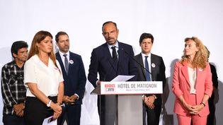Lechef du gouvernementÉdouard Philippe accompagné de plusieurs ministres a ouvert le Grenelle des violences conjugales mardi 3 septembre 2019 à Paris. (ERIC FEFERBERG / AFP)