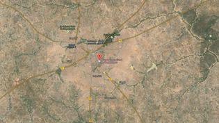 Capture d'écran d'une carte Google Maps pointant l'aéroport international de Ouagadougou (Burkina Faso), d'où est parti un avion à destination d'Alger qui n'a plus donné de nouvelles quelques minutes après le décollage, le 24 juillet 2014. ( GOOGLE MAPS / FRANCETV INFO )