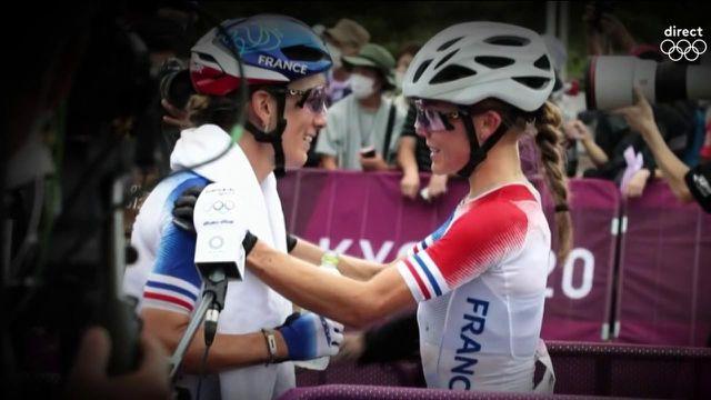 Loana Lecomte et Pauline Ferrand-Prévot étaient annoncées comme les grandes favorites de la course VTT. Les Françaises terminent 6e et 10e, loin derrière le trio suisse.