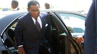 """Le président sortant de la Guinée équatoriale, Obiang Nguema Mbasogo est assuré d'être réelu pour un nouveau mandat de 7 ans. """"Le résultat est connu d'avance"""", affirme l'opposant Andres Esono, Secrétaire général de la CPDS. (Photo AFP/Pius Utomi Ekpei)"""