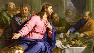 """""""Le repas chez Simon"""" couverture de """"Jésus, lumière de vie""""  (DR)"""